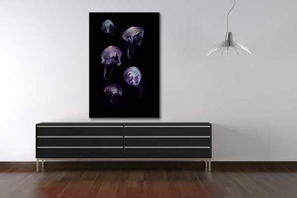 Tableau deco troupe de méduses