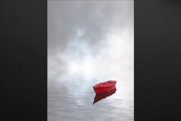 Tableau zen barque