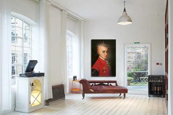 décoration murale moderne Mozart