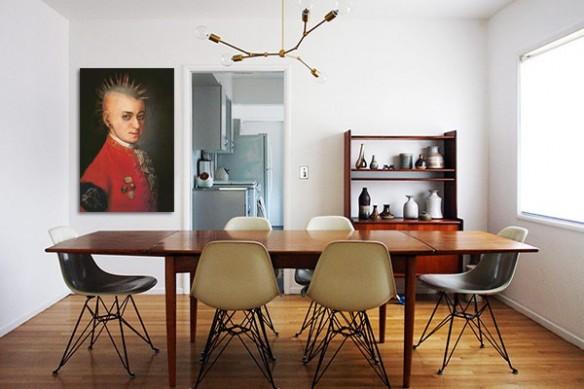 Tableau contemporain Mozart punk