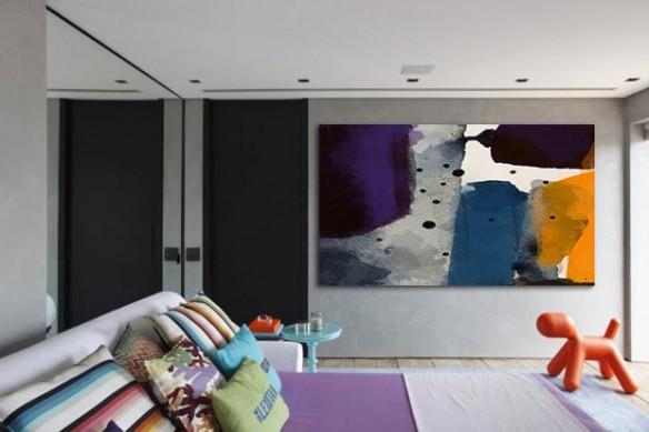 decoration chambre Tableau abstrait Marquise