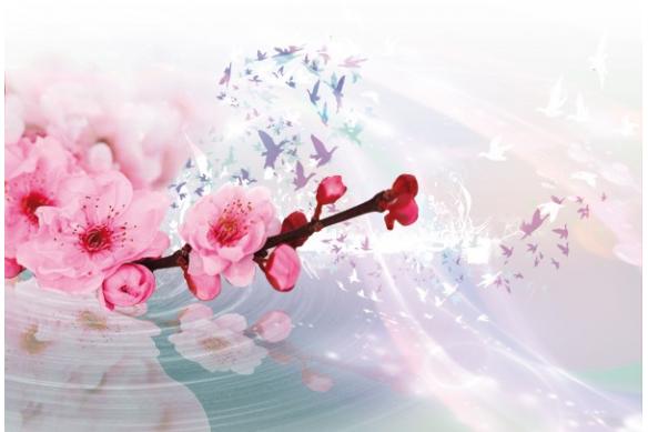déco mural Tableau fleur de Pruniers
