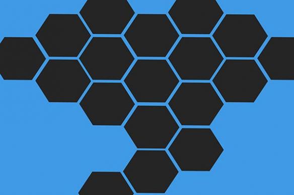 hexagone Alvéoles abeile tableau bleu