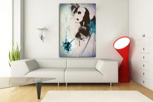 Tableau Panda par Mathieu Gazaix