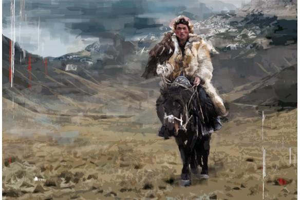 kazakh aigle royale steppe mongol