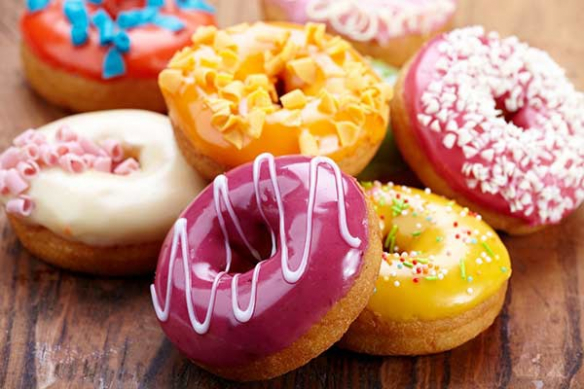 Tableau contemporain design Donuts sucrés