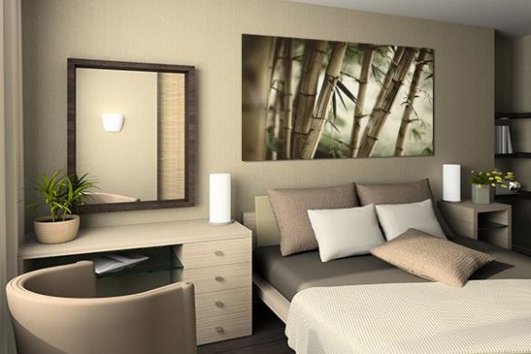 Tableau zen bambouseraie
