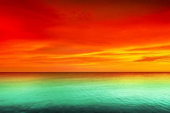 Couché de Soleil eau turquoise