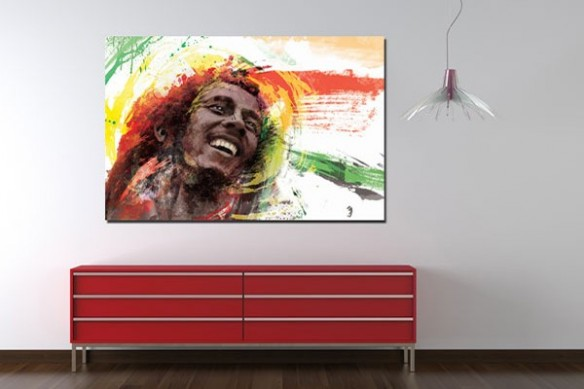 Tableau déco contemporain  Bob Marley