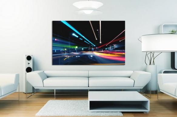 tableau abstrait Highway