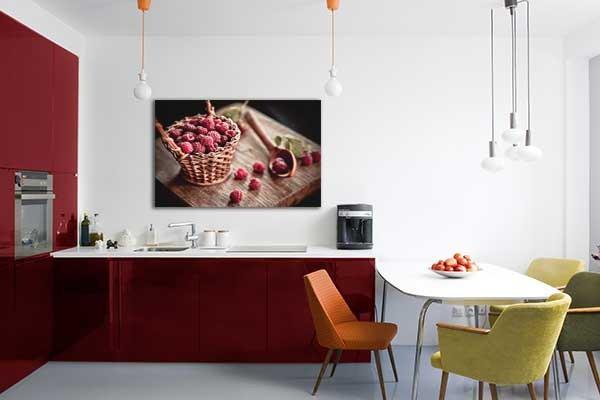 Tableau d coration murale framboises izoa - Tableaux decoration murale ...
