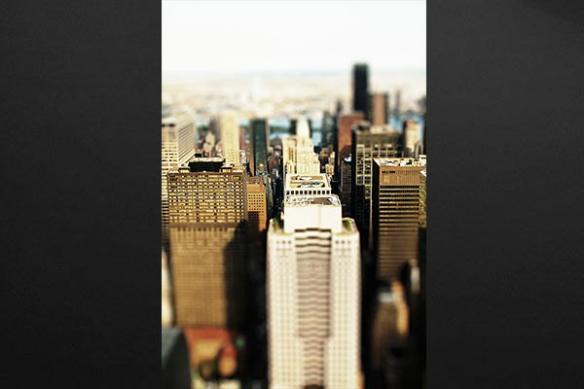 deco mur New york building flou