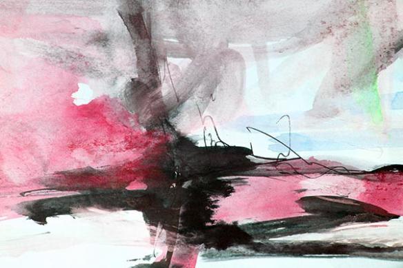Tableau peinture abstrait Idylle