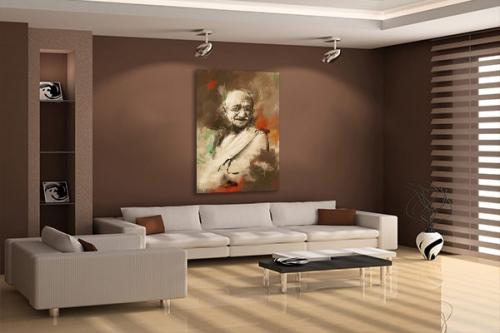 Tableau déco Gandhi by Damien Seppoloni