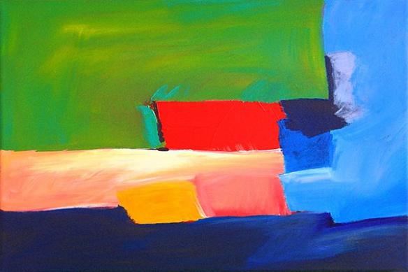 Tableau abstrait peinture Alliance