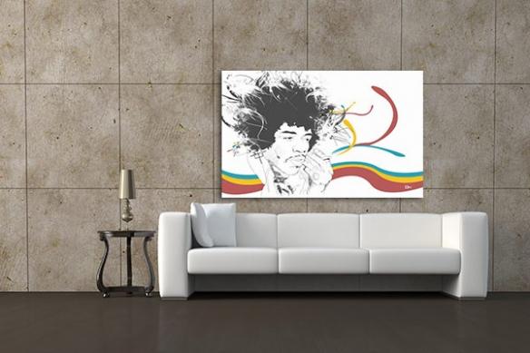 Tableau décoration Jimi par M. Gazaix