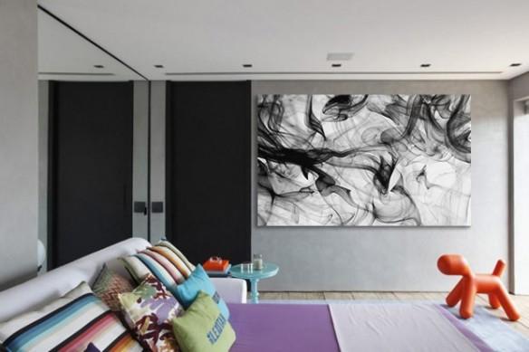 Tableau décoration chambre Smoke