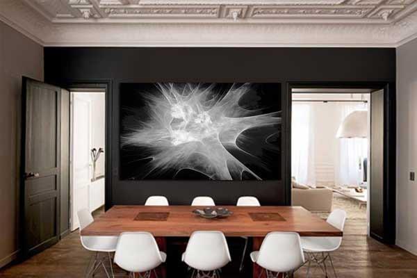 tableau abstrait cristalisation izoa. Black Bedroom Furniture Sets. Home Design Ideas