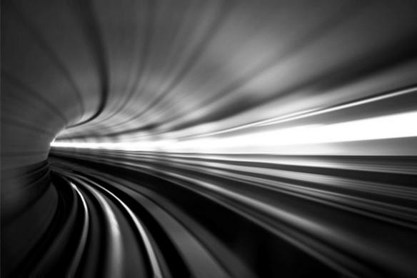 Tableau noir blanc Subway