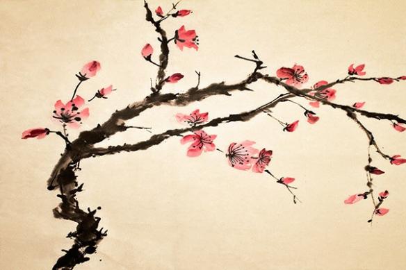 estampe arbre bonsaï Arbre Fleurs