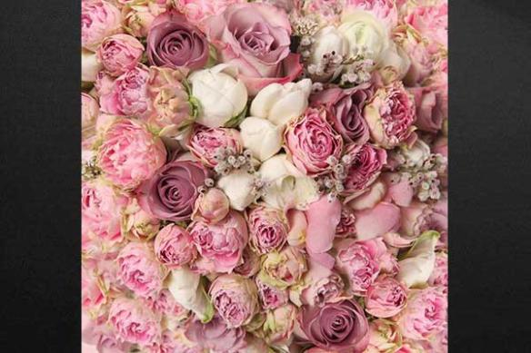 décoration chambre parental bouquet de roses