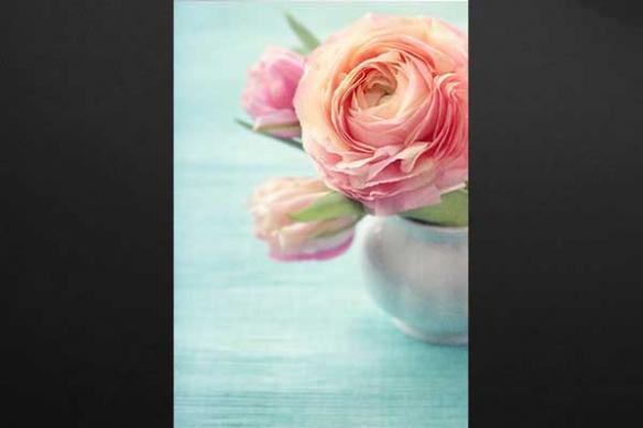 rose vase deco contemporaine toile