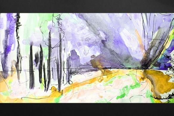 peinture design abstrait Yukimi