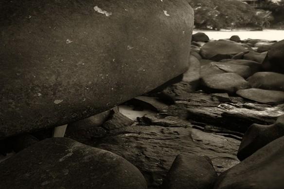 Tableau zen noir et blanc