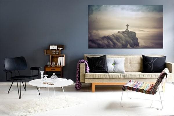 tableau d co christ r dempteur izoa. Black Bedroom Furniture Sets. Home Design Ideas