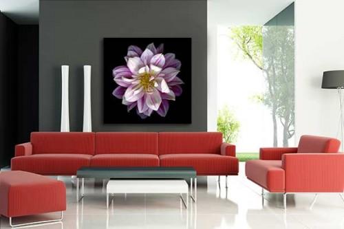 Tableau décoration Dahlia violet