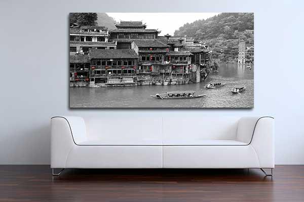 D co murale village chinois izoa for Deco sejour voilage
