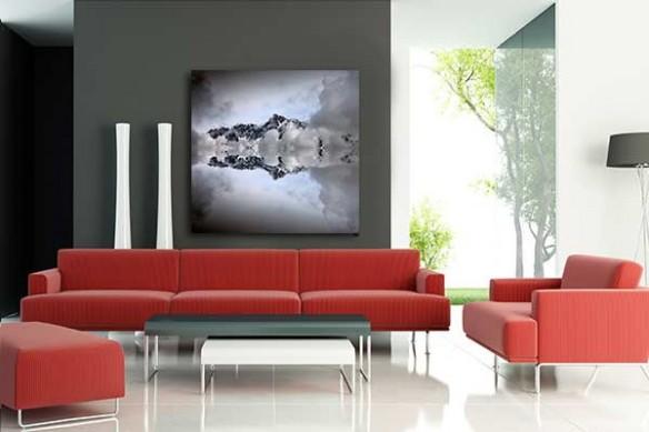 Tableau contemporain Mont-Blanc