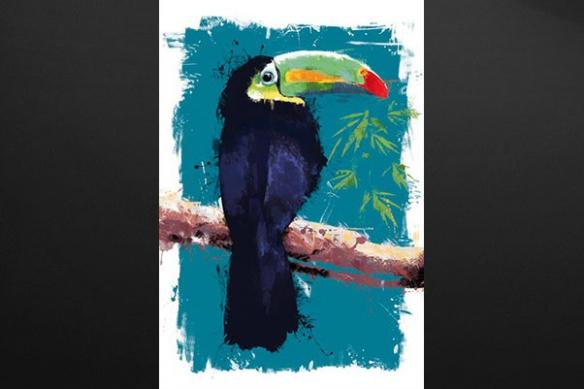 Tableau peinture Toucan