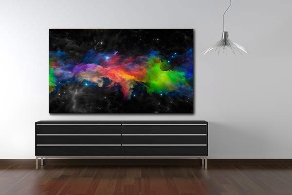Tableau abstrait d coration univers izoa for Tableau mural zen