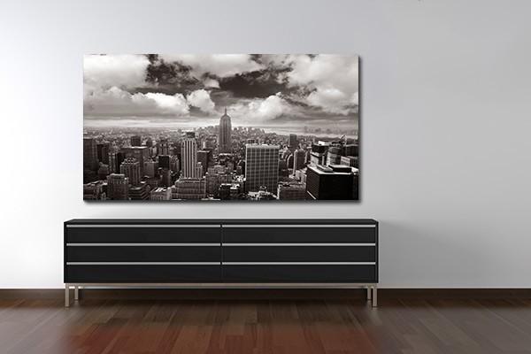 tableau contemporain city izoa. Black Bedroom Furniture Sets. Home Design Ideas