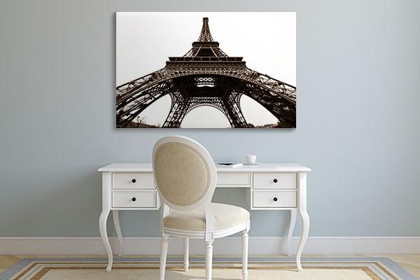 tableau grand format tour eiffel izoa. Black Bedroom Furniture Sets. Home Design Ideas
