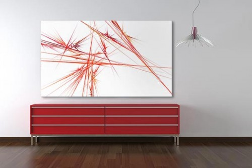 Tableau abstrait design tesla