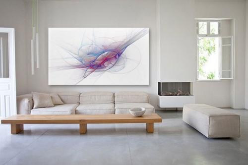 Tableau abstrait tornade artistique