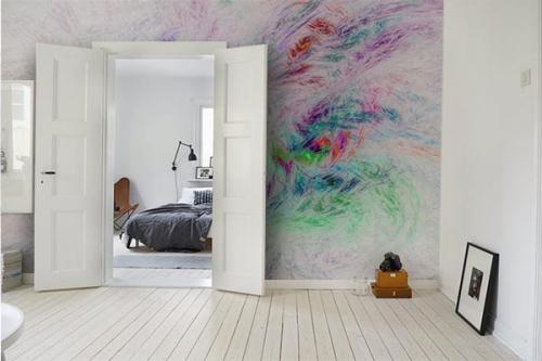 Papier peint design versicolore