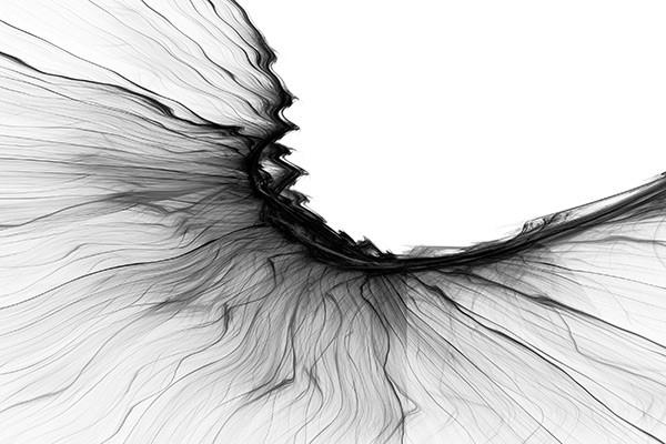 Tableau abstrait diaphane izoa - Tableau noir et blanc design ...