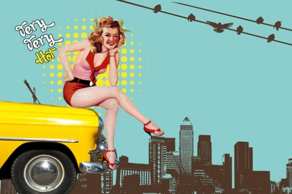 Tableau  design taxi jaune