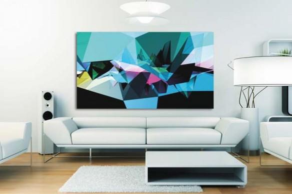 Tableau design Topaze Bleu