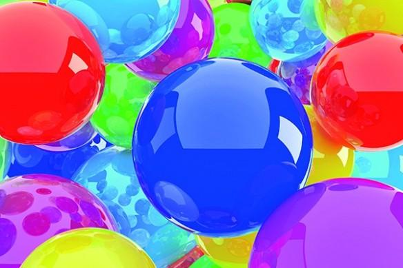 boulles de couleur acidulés