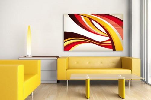 toile abstraite rayures entremêlées