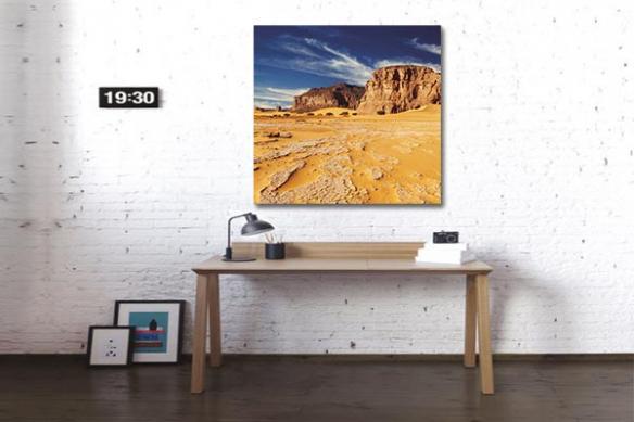 Tableau africain désert ocre