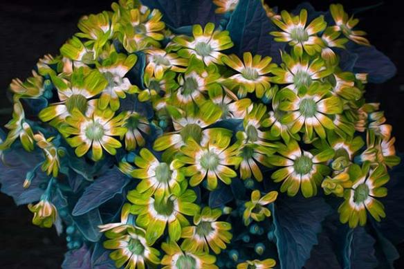 Toile fleur nature Amarelo