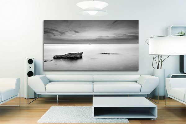 tableau noir et blanc etendu izoa. Black Bedroom Furniture Sets. Home Design Ideas