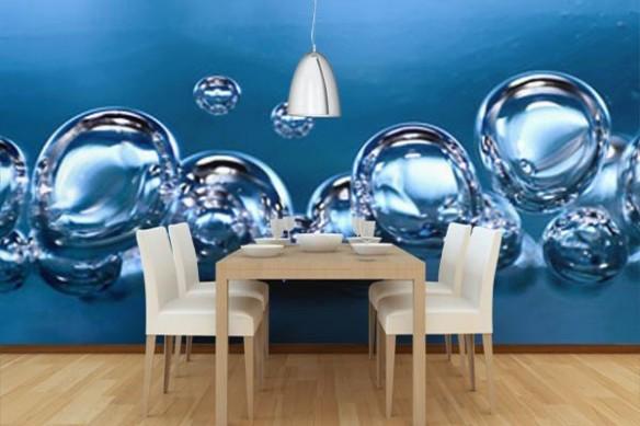 Papier peint photo bulles d'eau
