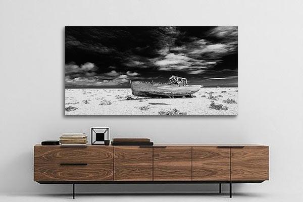 tableau noir et blanc navire chou izoa. Black Bedroom Furniture Sets. Home Design Ideas