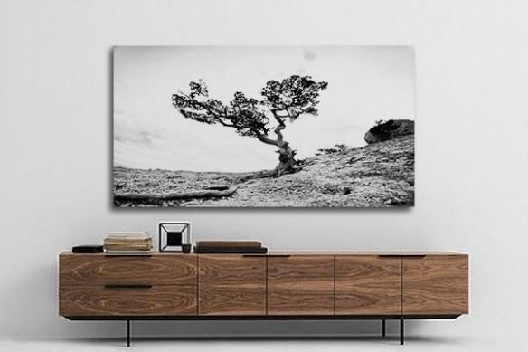 Tableau contemporain paysage provençal